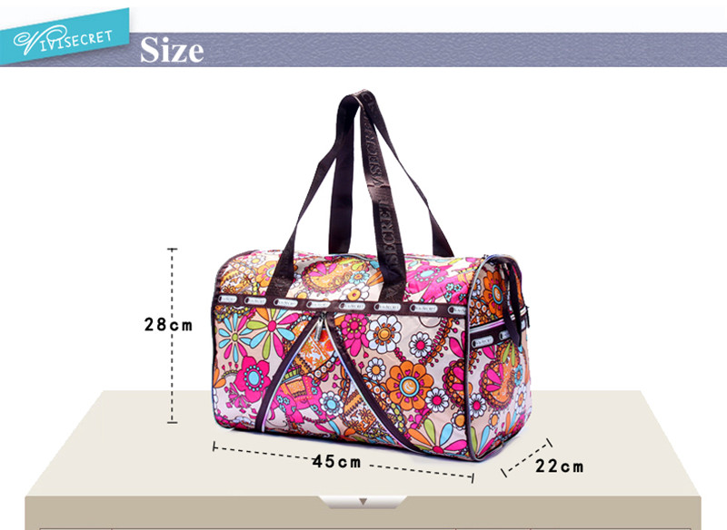 Visoka moda vodootporna najlon veliki kapacitet sklopivi cvjetni - Torbe za prtljagu i putovanje - Foto 2