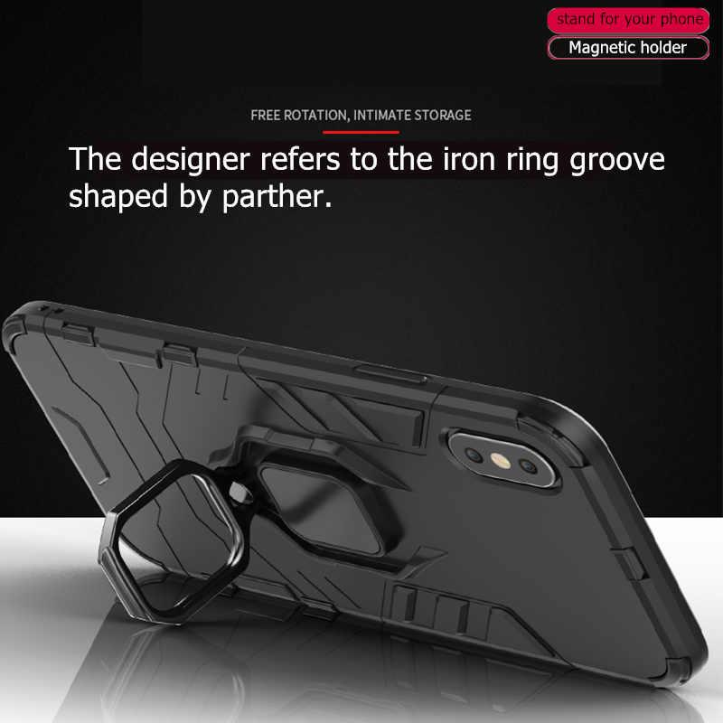Samsung Galaxy A10 kılıf zırh manyetik emme standı darbeye dayanıklı tam kenar kapak Samsung A10 kapak Goyar A105F/ DS Fundas