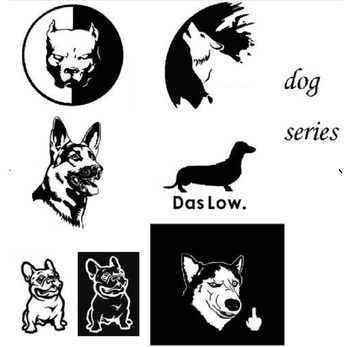 New Husky Car Reflective Stickers Motorcycle Car Styling 3D Funny Dog Decal For bmw VW AUDI FORD TOYOTA HONDA KIA JEEP VOLVO car styling racing sticker body waist car stickers door side scratches decorative decals for ford vw bmw toyota audi honda mazda