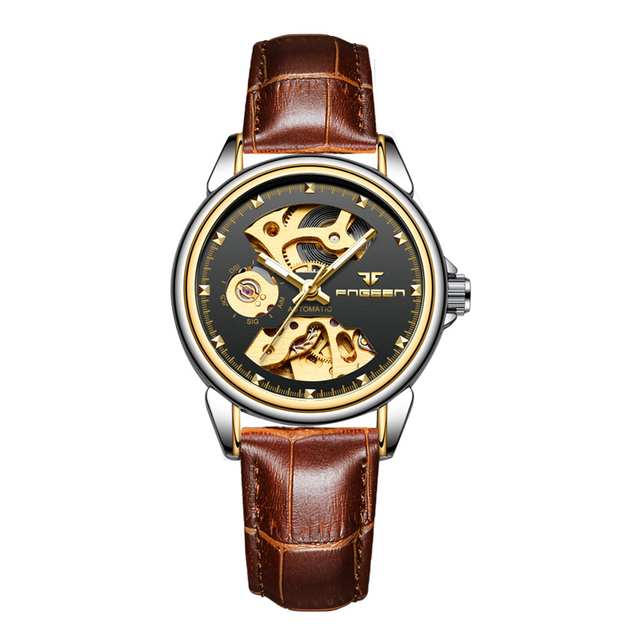 FNGEEN Women's Mechanical Skeleton Luxury Waterproof Female Automatic Watches 5