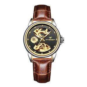 Image 5 - Nieuwe Mode Vrouwen Mechanisch Horloge Skeleton Ontwerp Top Brand Luxe Volledige Steel Waterdicht Vrouwelijke Automatische Klok Montre Femme