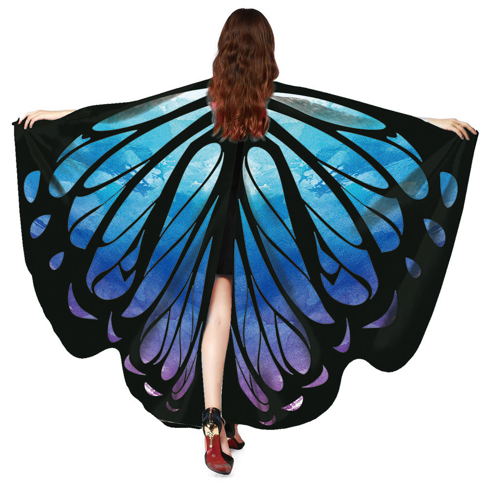Free Ostrich 2019 Butterfly Wings Fairy Ladies Nymph Pixie Costume Accessory Beach Cover Up Shawl Wrap Drop Shipping C0840