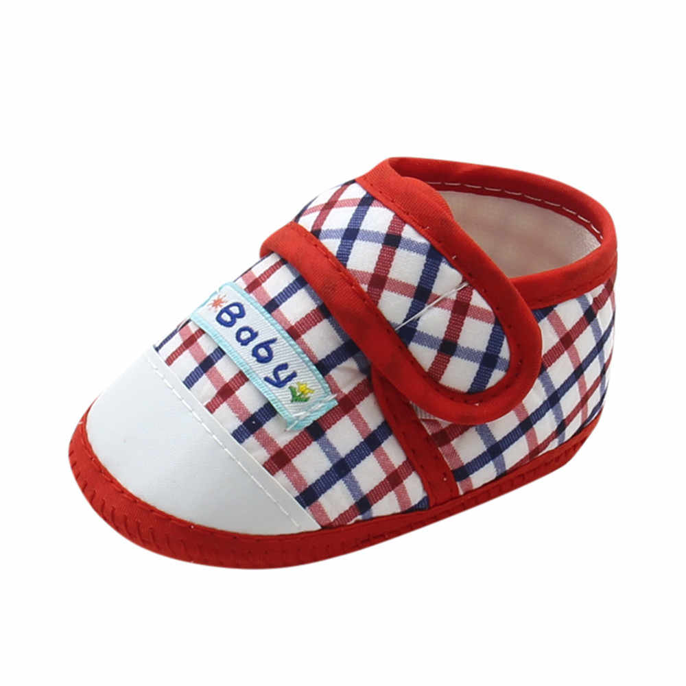 SAGACE Prewalker Shoes Baby Girls Boys Plaid Cute Anti-Slip Toddler Prewalker Shoes Infant Boys Soft Sole Baby Prewalker Shoes