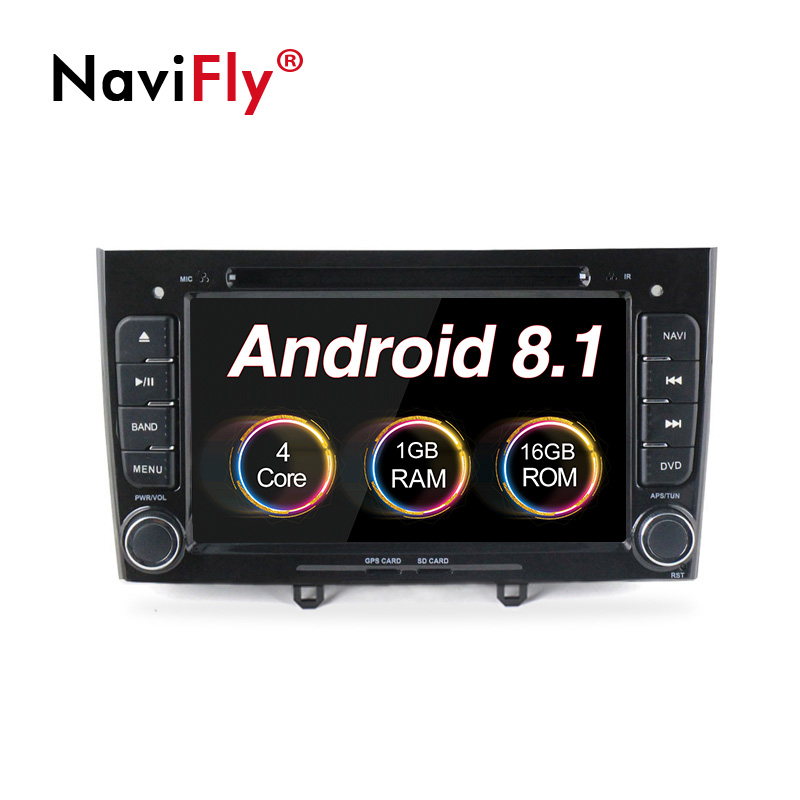 NaviFly Android 8.1 2din Car GPS radio stereo for Peugeot 408 Peugeot 308 308SW Car dvd player with Audio BT canbus RDS