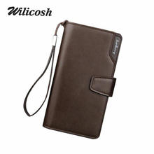 2016 New Fashion Men Wallets Casual Wallet Men Purse Clutch Bag Brand Leather Long Wallet Design Hand Bags For Men Purse DB5715