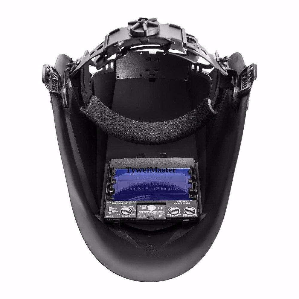 Image 2 - Welding Helmet Premium Mask 100*65mm 1111 4 Sensors Filter Welder Hat Cap Solar Auto Darkening MIG TIG Grinding 3 13 CE UL CSA-in Welding Helmets from Tools