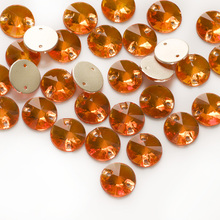 YANRUO 3200 Rivoli Hyacinth Glass Sew On Rhinestones Sewing Crystals Stones for Clothing