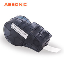 Absonic 12.7 Mm * 6.4 M Tinggi Adhesi Vinyl Label Tape M21-500-595-WT Label Maker Kompatibel untuk Brady BMP21-PLUS Label Printer(China)