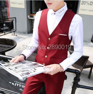 New Premium brand fine cotton the groom's best man wedding dress men's suit vest Male Male formal business suit vest waistcoat