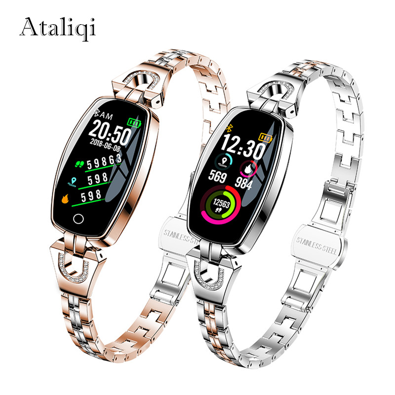 Ataliqi H8 Smart Watch Women IP67 Waterproof Heart Rate Monitoring Bluetooth For Android IOS Fitness Bracelet SmartwatchAtaliqi H8 Smart Watch Women IP67 Waterproof Heart Rate Monitoring Bluetooth For Android IOS Fitness Bracelet Smartwatch