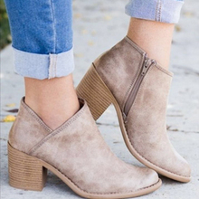 2019 Chic Summer Women Shoes Retro High Heel Ankle Boots Fem