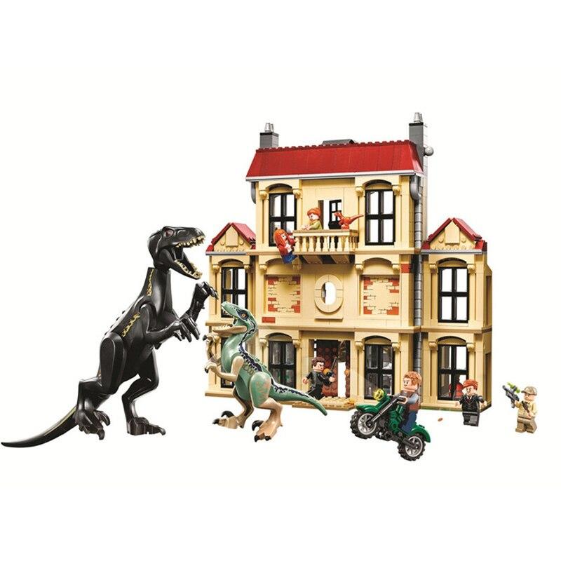 75930 1046pcs Jurassic World Dinosaur Indoraptor Rampage At Lockwood Estate Building Block Toys For Children 10928
