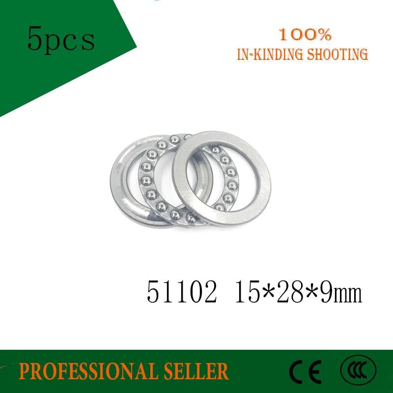 2pcs Axial Ball Thrust Bearing 51102 15mm*28mm*9mm