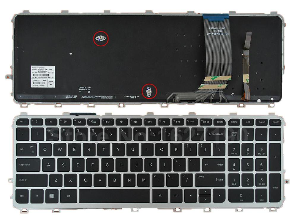New Laptop Keyboard For HP ENVY 15-j Series SILVER FRAME BLACK( BLACKlit, For Win8) US/United States Layout Notebook Teclado laptop keyboard for acer silver without frame bulgaria bu v 121646ck2 bg aezqs100110