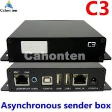 C3 плеер асинхронный полноцветный привел отправки коробка порт USB LED отображения видео контроллер отправителя Box 1920*1080 пикселей RGB ТВ стены