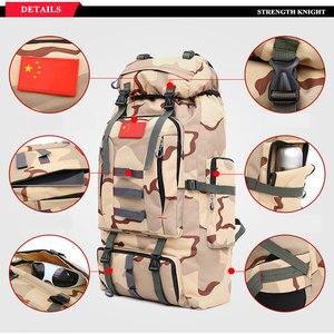 Image 5 - 80L большой емкости мужской военный рюкзак многофункциональный водонепроницаемый Оксфорд поход рюкзаки для кемпинга износостойкий дорожный рюкзак
