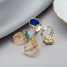 2019 Fashion Chromatic Color Silver Metal Finger Ringe Charming Crystal Rhinestone Women Ring Free Size Classic Jewelry Gift charming rhinestone heart ring for women