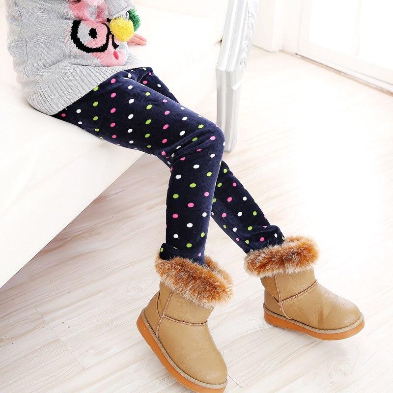 Детские штаны, осенне-зимние леггинсы для малышей, штаны для девочек с разноцветным принтом в виде цветов и бабочек - Цвет: 10