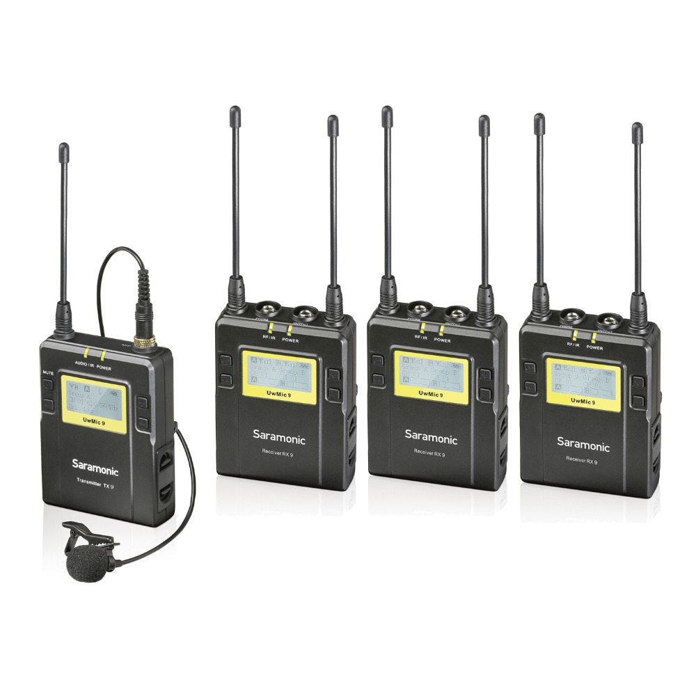 Saramonic Uwmic9 Stage Wireless Monitor System 1 Transmitter +3 Receivers use for Recording studio/on stage monitoring Meeting 2 receivers 60 buzzers wireless restaurant buzzer caller table call calling button waiter pager system