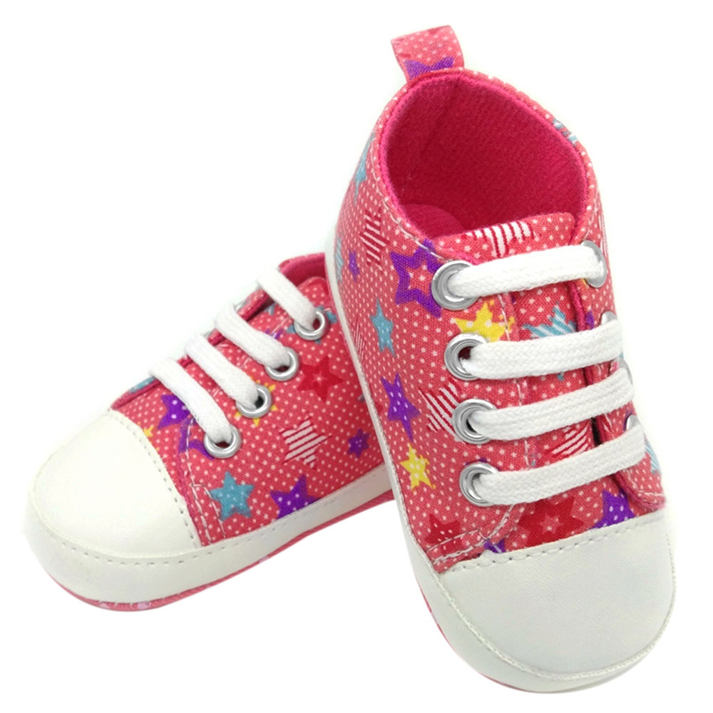 Canvas Shoes Sneaker Soft-Sole Anti-Slip Toddler Girl Boy Fashion Lace-Up G5 Colorful
