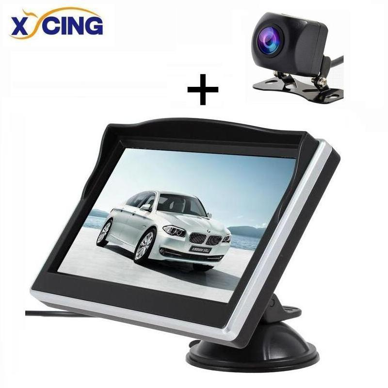 XYCING IP68 Waterproof Fish Eyes Night Vision HD Parking Assistance Camera + 5.0 Inch TFT LCD Car Monitor 800*480 HD Monitor