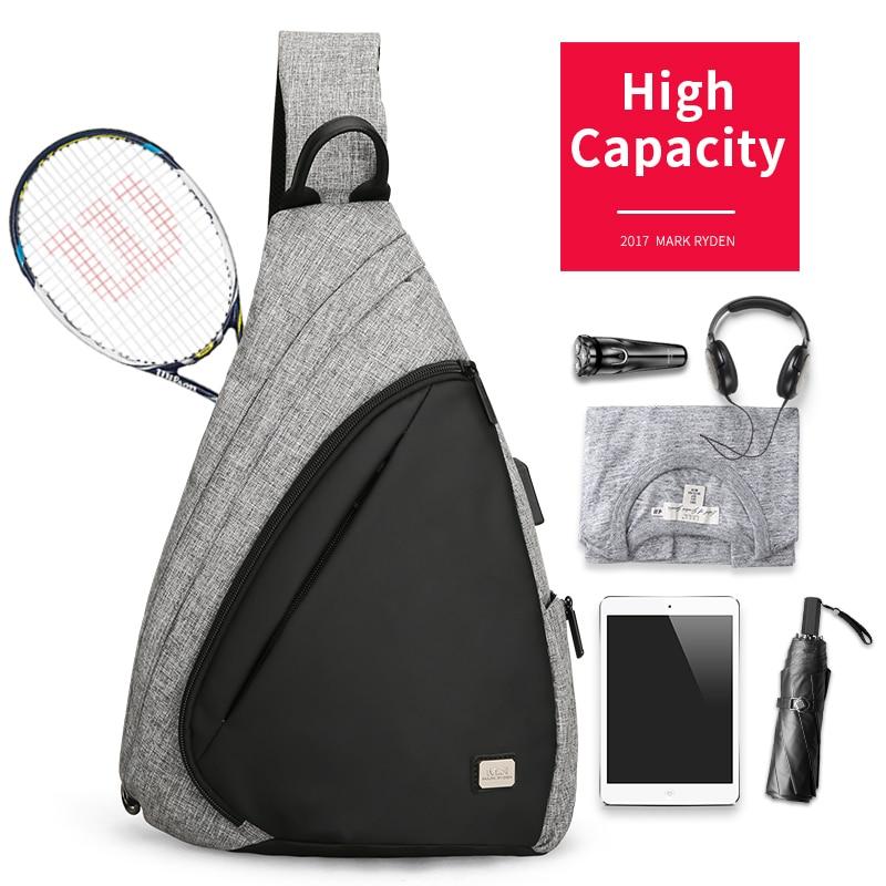 USB Recharging Chest Sling Bag - Multi-functional Shoulder Bag 1