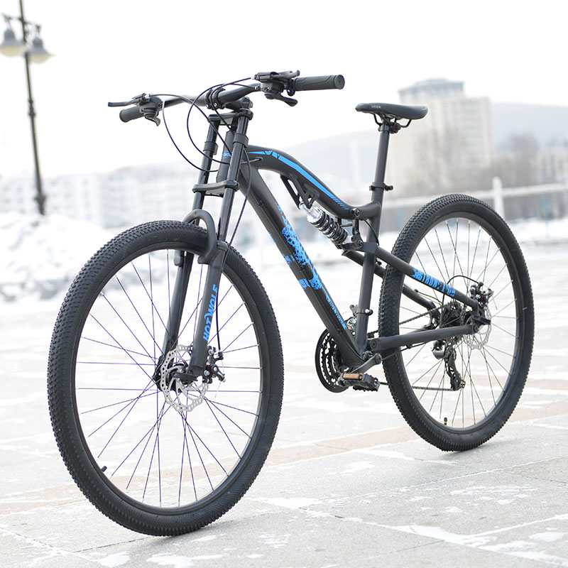 все цены на hot wolf 29 inches bicycles Aluminum alloy 24 speed soft-tail frame non-folding mountain bike 19 inch bike frame  for tall man