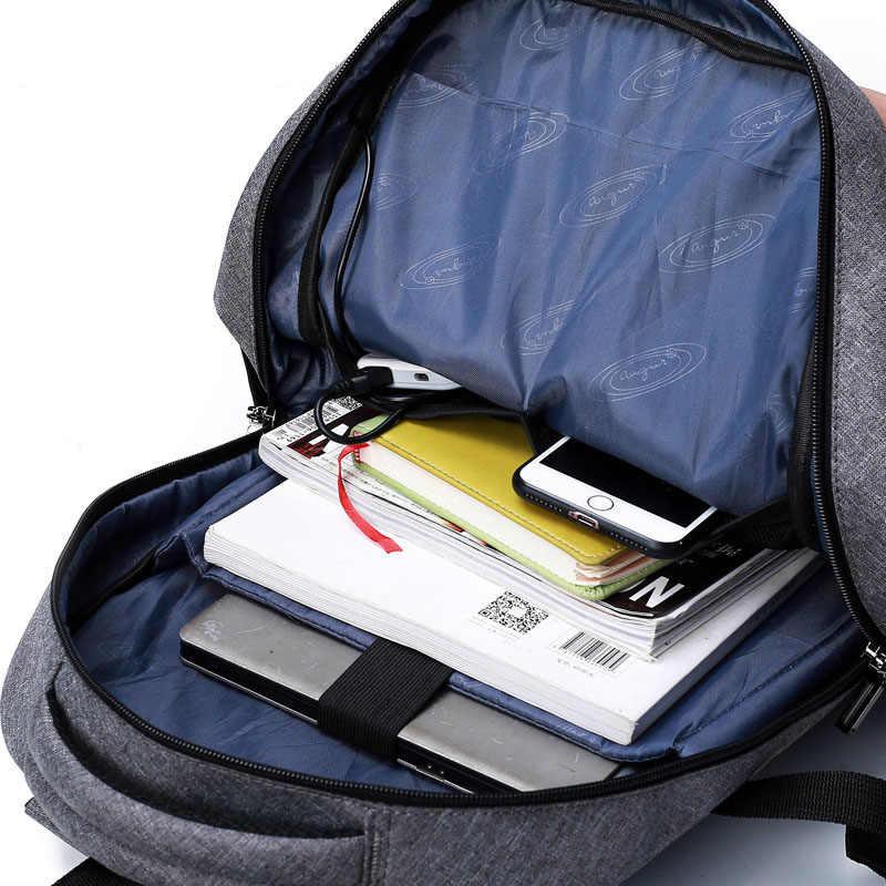 15,6-17 zoll Laptop Rucksack Für Frauen Männer Wasserdichte Oxford USB Port Lade Rucksäcke Business Männer der Schule Rucksack tasche