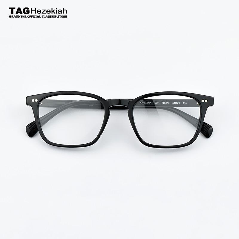 Carré lunettes cadre Acétate Lunettes Hommes Optique Cadres Lunettes Marque  Spectacle Transparent myopie ordinateur lunettes femmes 056c62b7a306