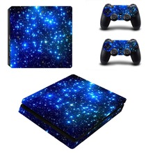 PS4 S Slim Skin Cosmic Nebular Sticker Vinly Decal for Sony PlayStation 4 S Slim Console and Controller
