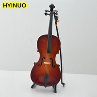 1:6 Scale Wooden Musical Cello Model 20cm Violin Handmade Model Figure Fit For 12 Body Action Figures Doll Accessories