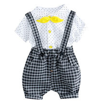 Telotuny Summer Kids Girls Bow Clothes Sets Baby Gentleman High Qulity Overall Shorts Pants Casual Kids Outfits Baby Jan3(China)