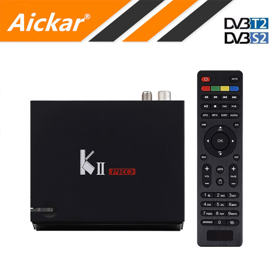 KII PRO DVB S2 DVB T2 Android 5.1 TV Box 2GB/16GB Amlogic S905 Bluetooth 4.0 2.4G/5G WIFI 4K DLNA Airplay Smart TV Media Player