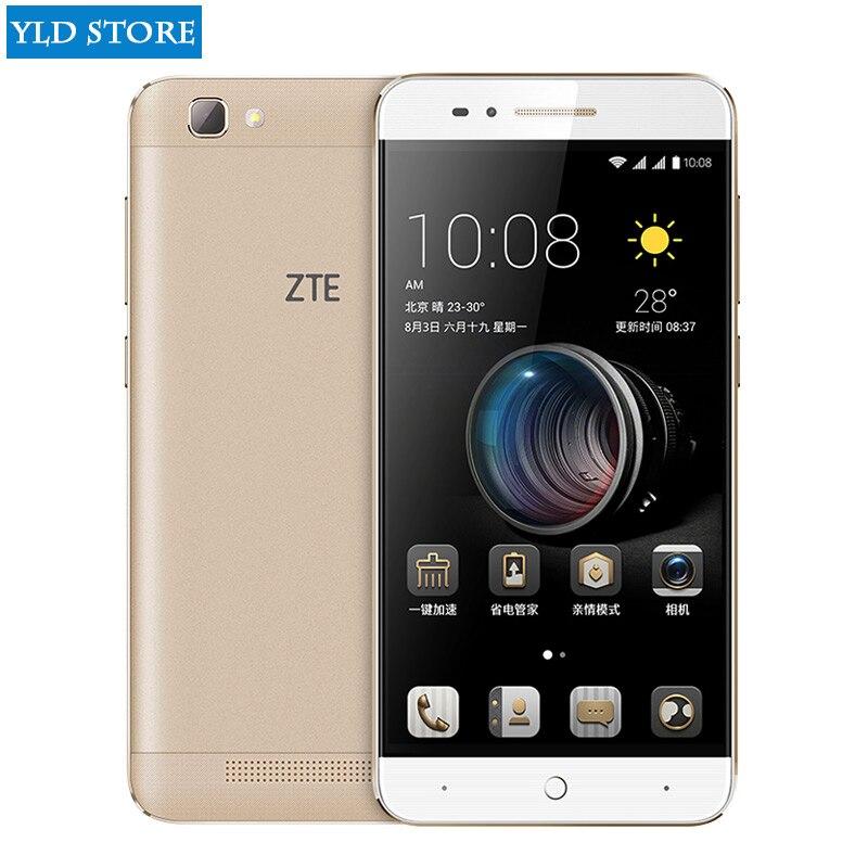ZTE BA610T teléfono móvil MTK6735P Quad Core Android 5,1 1280X720 2 GB RAM 8 GB ROM 8.0MP 4000 mah espera largo tiempo a2 a1 C880U