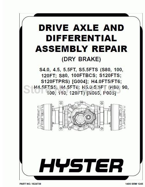 Hyster Class 5 Internal Combustion Engine Trucks - Pneumatic Tire Repair Manuals 2013 (HTML+PDF) hyster cushion tire truck repair manuals