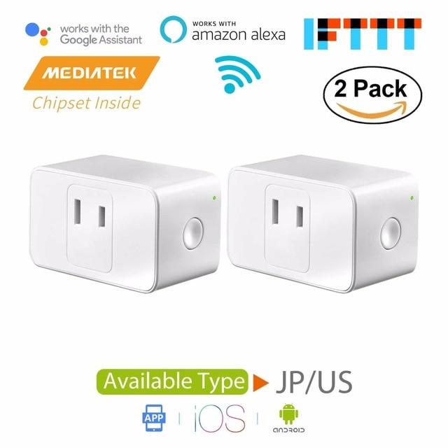 Smart WiFi Plug Mini, Amazon Alexa & Google Assistant & IFTTT Supported, App Remote Control, Mini Size-2 Pack Meross MSS110