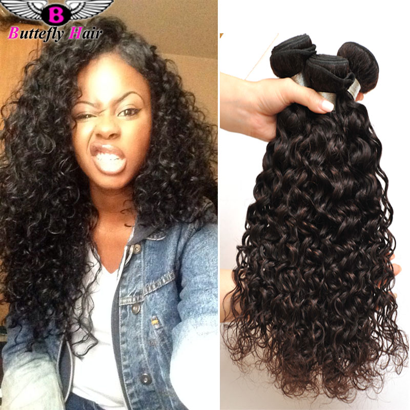 10a Malaysian Water Wave Hair 4 Bundles Maxglam Hair Wet