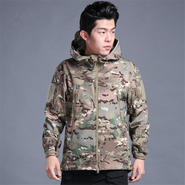 Jhuck Soft shell Tactical Jacket With Hood