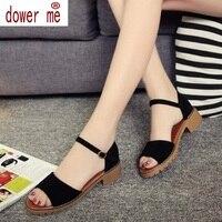 Summer Women Sandals Open Toe Flip Flops Women S Sandals Thick Heel Women Shoes Korean Style
