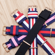 PEIYI Buy 1 Get FREE Watchband Nylon Canvas Watch Bands Replace Strap Belt For Nato James Bond 007 Military DW Army Sport band