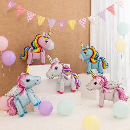 18/24/36inch Wrinkle-Free Transparent Confetti Balloons Mini Horse Baby Shower Unicorn Balloon Wedding Birthday Party Decor Toys
