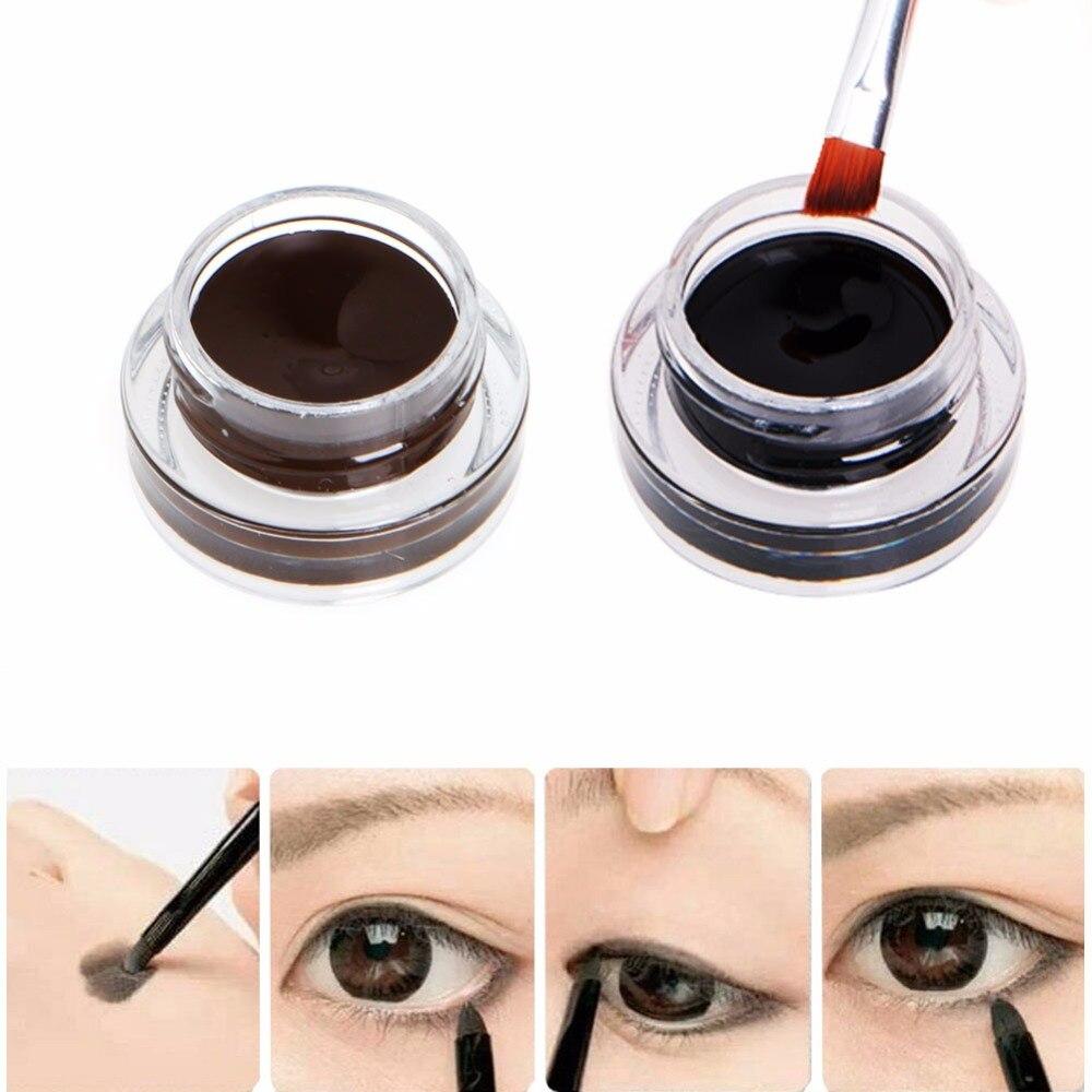 2 In1 Brownblack Gel Eyeliner Eyebrow Powder Makeup Waterproof