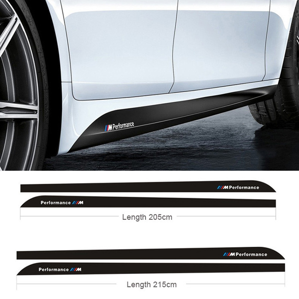 Car sticker maker in penang - Car Styling M Performance Side Skirt Stripe Sticker Body Decal For Bmw 3 Series 320