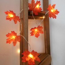 Led Night Lamp For Kids christmas tree LED/Christmas Lights Outdoor Maple leaf Garland Christmas Led Lights Decorations For Home christmas santa claus night light 3d visual acrylic led desk lamp led christmas decorations for home lights kids new year gift