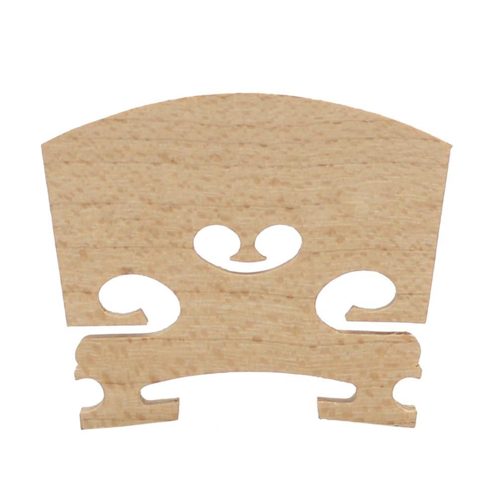 Patria Nueva Llegada Exquisita Mano de Obra 1 Unids Maple Wood Violin Bridge 1/4 1/2 Tamaño Violín Partes Accesorios