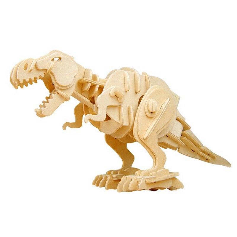 La russie Acheteur Super Deal Robotime Marche T-Rex Creative Sound Control Dinosaure Jouet 3D En Bois DIY Modèle Enfants Belle cadeau D210