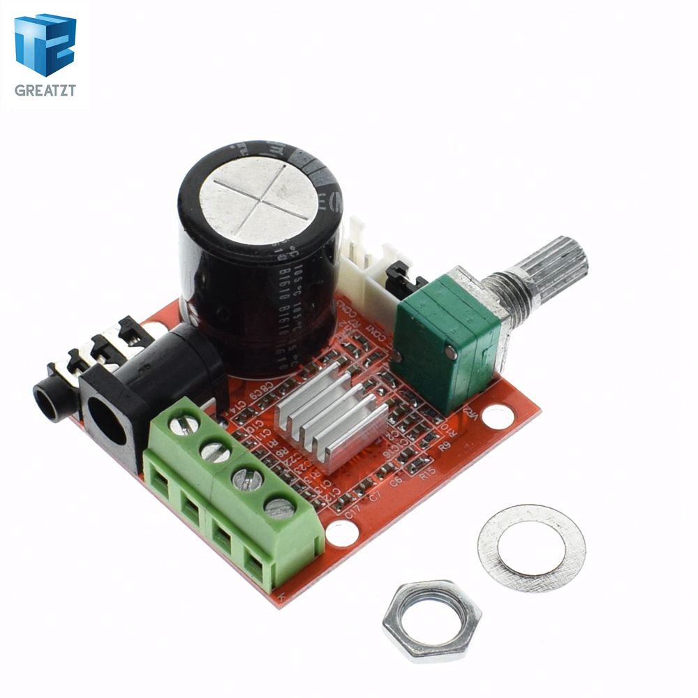 Smart Electronics 1Pcs 2X10W Hi-Fi PAM8610 Audio Stereo Amplifier Board Dual D C