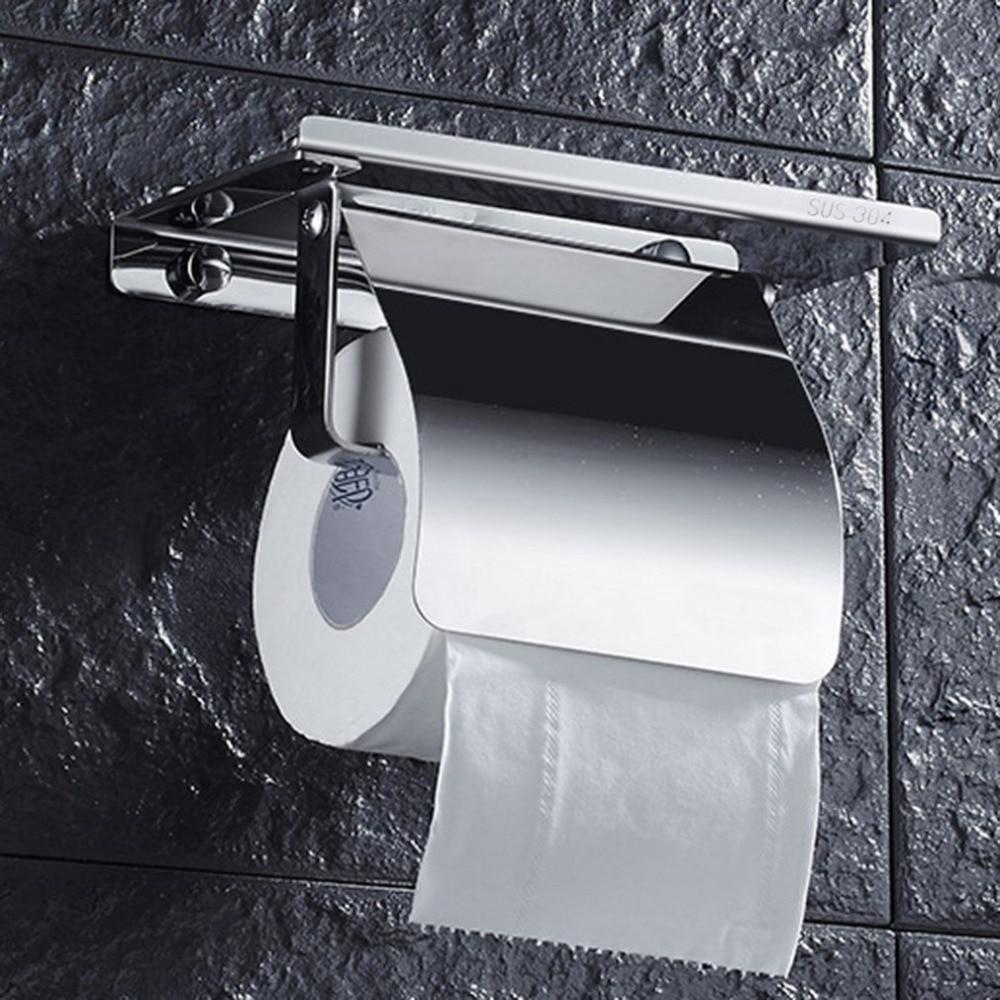 Edelstahl Anti-rost Tissue Halter Wand Montiert Hängen Rack Rolle Papier Handtuch Halter Bad Wc Hause Liefert