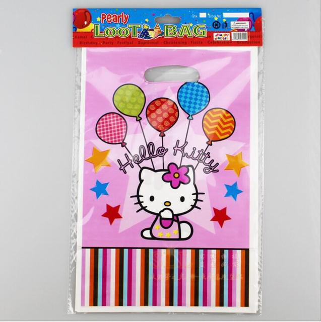 O Kitty Plastic Loot Bag Gift Candy For Any Birthday Party