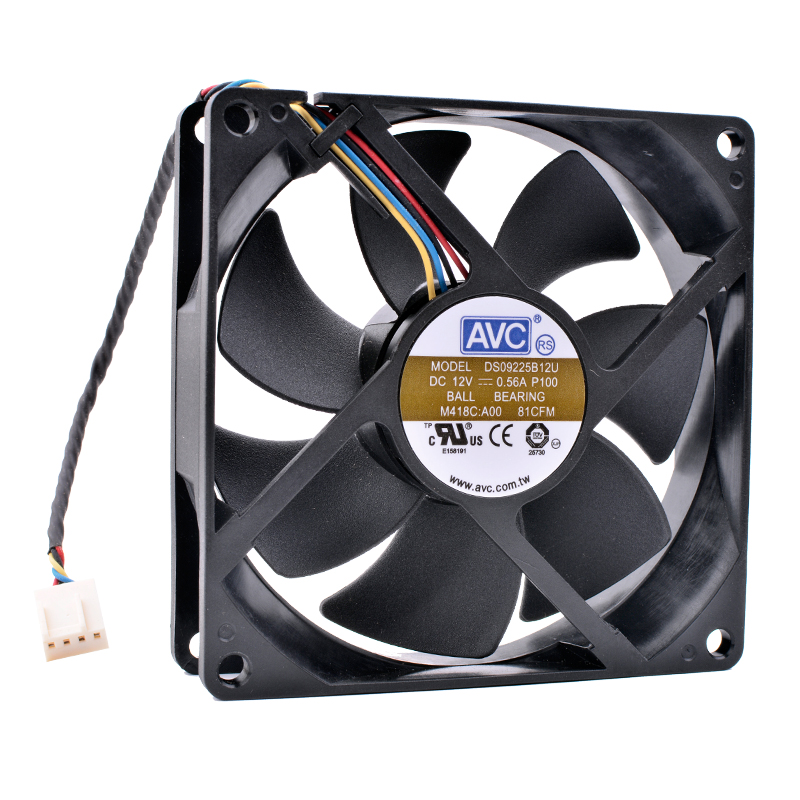 New and original COOLING REVOLUTION DS09225B12U 9cm 9225 90mm fan 12V 0.56A Double ball bearing computer CPU cooler cooling fan free shipping new original sanyo 9bam24p2g17 dc24v 0 9a 97 33mm 9cm large wind blower cooling fan